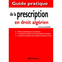 LA PRESCRIPTION EN DROIT ALGERIEN